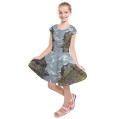 Pacific Ocean 2 Kids  Short Sleeve Dress