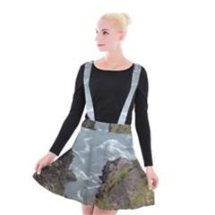 Pacific Ocean 2 Suspender Skater Skirt