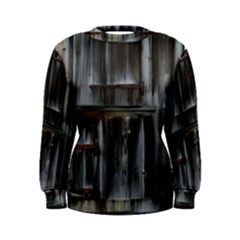 Alpine Hut Almhof Old Wood Grain Women s Sweatshirt