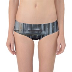 Alpine Hut Almhof Old Wood Grain Classic Bikini Bottoms