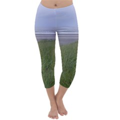 Pacific Ocean  Capri Winter Leggings