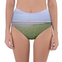 Pacific Ocean  Reversible High-Waist Bikini Bottoms