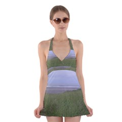 Pacific Ocean  Halter Swimsuit Dress