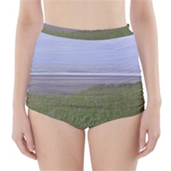 Pacific Ocean  High-Waisted Bikini Bottoms