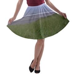Pacific Ocean  A-line Skater Skirt