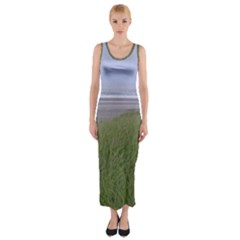 Pacific Ocean  Fitted Maxi Dress