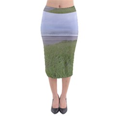 Pacific Ocean  Midi Pencil Skirt