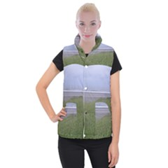 Pacific Ocean  Women s Button Up Puffer Vest