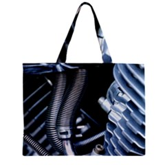 Motorcycle Details Zipper Mini Tote Bag