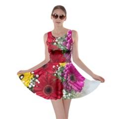 Flowers Gerbera Floral Spring Skater Dress