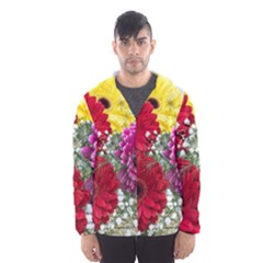 Flowers Gerbera Floral Spring Hooded Wind Breaker (Men)