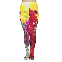 Flowers Gerbera Floral Spring Women s Tights