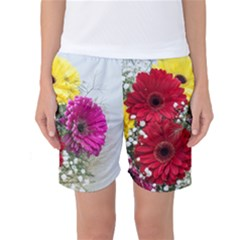 Flowers Gerbera Floral Spring Women s Basketball Shorts