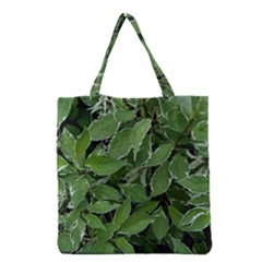 Texture Leaves Light Sun Green Grocery Tote Bag