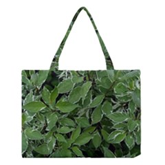 Texture Leaves Light Sun Green Medium Tote Bag