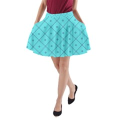 Pattern Background Texture A Line Pocket Skirt