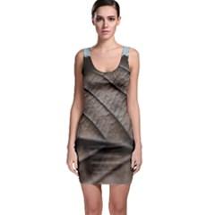 Leaf Veins Nerves Macro Closeup Sleeveless Bodycon Dress