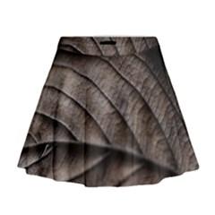 Leaf Veins Nerves Macro Closeup Mini Flare Skirt