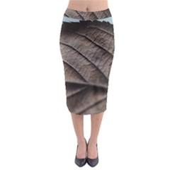 Leaf Veins Nerves Macro Closeup Midi Pencil Skirt