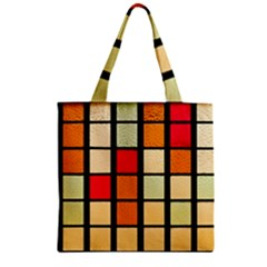 Mozaico Colors Glass Church Color Zipper Grocery Tote Bag