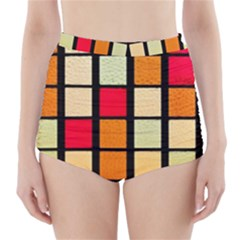 Mozaico Colors Glass Church Color High-Waisted Bikini Bottoms