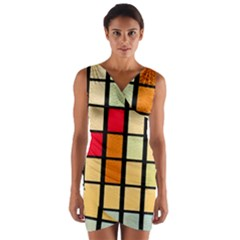 Mozaico Colors Glass Church Color Wrap Front Bodycon Dress