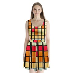 Mozaico Colors Glass Church Color Split Back Mini Dress