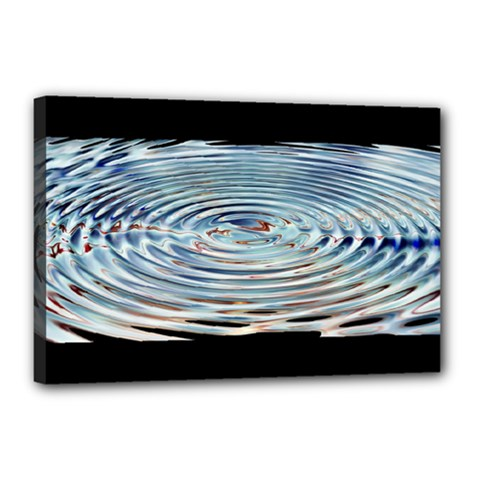Wave Concentric Waves Circles Water Canvas 18  X 12