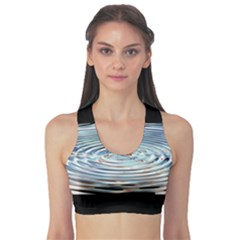 Wave Concentric Waves Circles Water Sports Bra