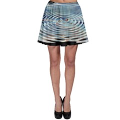 Wave Concentric Waves Circles Water Skater Skirt