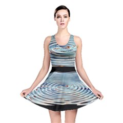 Wave Concentric Waves Circles Water Reversible Skater Dress