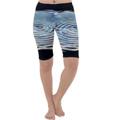 Wave Concentric Waves Circles Water Cropped Leggings