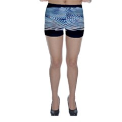 Wave Concentric Waves Circles Water Skinny Shorts