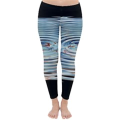Wave Concentric Waves Circles Water Classic Winter Leggings