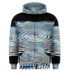 Wave Concentric Waves Circles Water Men s Zipper Hoodie