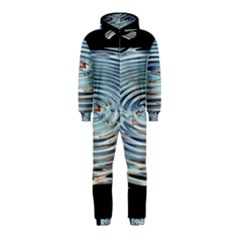 Wave Concentric Waves Circles Water Hooded Jumpsuit (Kids)