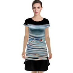 Wave Concentric Waves Circles Water Cap Sleeve Nightdress