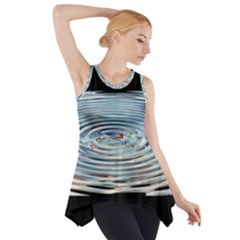 Wave Concentric Waves Circles Water Side Drop Tank Tunic