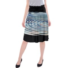 Wave Concentric Waves Circles Water Midi Beach Skirt