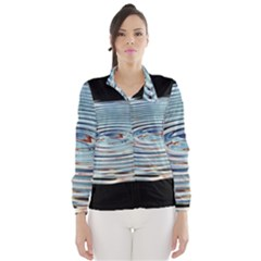 Wave Concentric Waves Circles Water Wind Breaker (women)