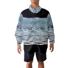 Wave Concentric Waves Circles Water Wind Breaker (Kids)