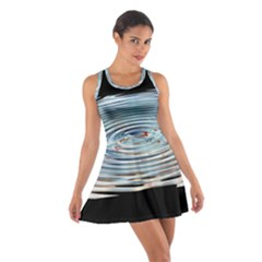 Wave Concentric Waves Circles Water Cotton Racerback Dress