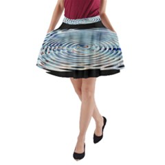 Wave Concentric Waves Circles Water A-Line Pocket Skirt