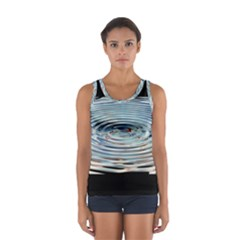 Wave Concentric Waves Circles Water Women s Sport Tank Top