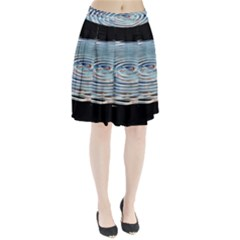 Wave Concentric Waves Circles Water Pleated Skirt