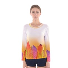 Autumn Leaves Colorful Fall Foliage Women s Long Sleeve Tee