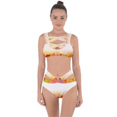 Autumn Leaves Colorful Fall Foliage Bandaged Up Bikini Set
