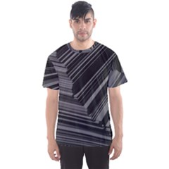 Paper Low Key A4 Studio Lines Men s Sports Mesh Tee
