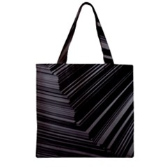 Paper Low Key A4 Studio Lines Zipper Grocery Tote Bag