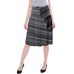 Paper Low Key A4 Studio Lines Midi Beach Skirt